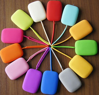 Wholesale Silicone Purse Coin Card Holder - Hot selling Silicone key wallets Key holder Card holder Key cases Coin wallet candy color bag for girls lady women Free DHL best2011