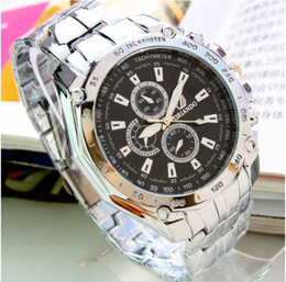 Wholesale Cheap Dress Watches For Men - Fashion Steel Strip Watches Luxury Watches For Men Three six-pin Round Dial Cheap Watch free shipping-Utop2012