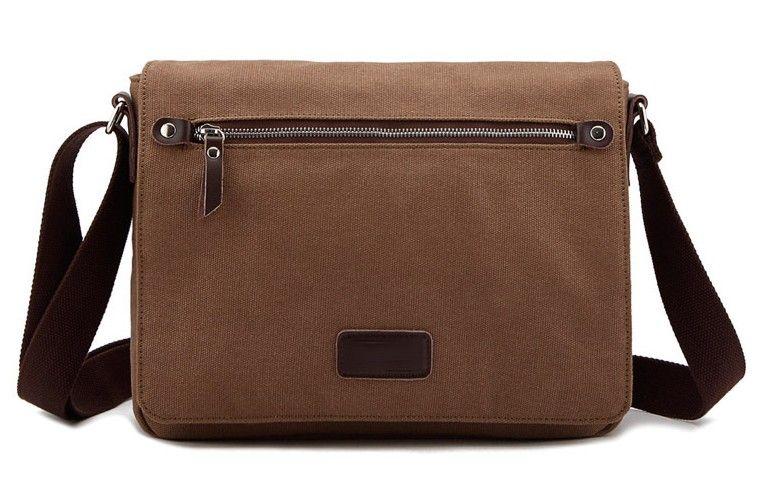 Fashion Canvas Messenger Bag Men Simple Casual Student Ipad Bags ...