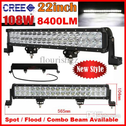"2014 20"" 108W 36-LED*3W CREE LED Working Light Bar Spot Driving Off-Road SUV ATV 4WD 4x4 Flood / Combo Beam 9-32V 8400LM JEEP Reflection Cup"