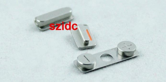 60 adet (20 takım) Orijinal Yeni Komple Yan Düğmeler Güç Ses Dilsiz Anahtarı Anahtarı Seti Yedek Parçalar iPhone 4 için