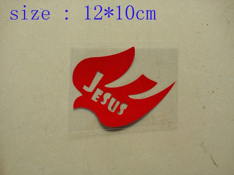 / Wholesale Vinyl JESUS Bird Decals stickers for car / truck /auto