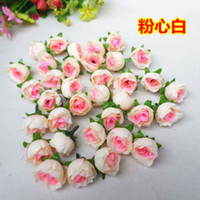 "Wholesale Head Flowers Clips - Artificial Silk Rose 1.2""Flower Head Bud 8 Color Home Wedding Home Decor Hair Clip"