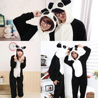 Wholesale Japanese Panda Costume - Hot panda Anime Kigurumi Pajamas Cosplay Costume unisex Adult Onesie Dress Frog S M L XL