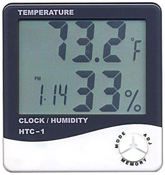 top popular 200pcs lot Digital LCD Thermometer Temperature Humidity Meter with Clock Calendar Alarm HTC-1 2021