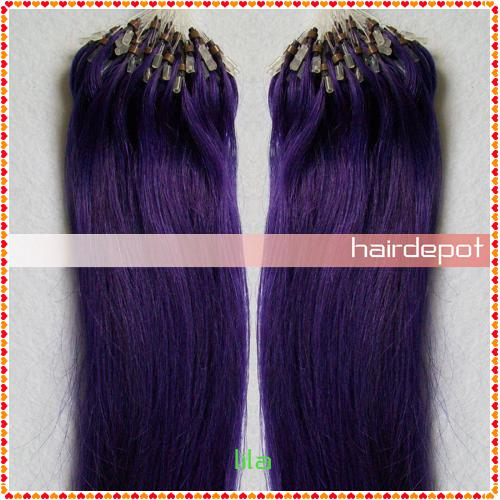 1 18 lila purple micro bead hair extensions remy silky soft 1 2 pcs 18 lila purple micro bead hair extensions remy silky soft straight 100 human hair micro link extensions superb free chinapost pmusecretfo Choice Image