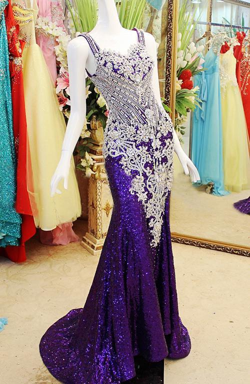 Delikat 2019 Designer Golvlängd Beaded Crystal Mermaid SweetArt Red Carpet Evening Dresses / Prom Klänningar Xi50