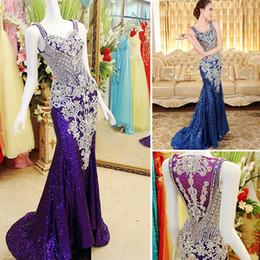Wholesale Delicate Mermaid V Neck - Delicate 2015 Designer Floor Length Beaded Crystal Mermaid Sweeteart Red Carpet Evening Dresses  Prom Dresses Xi50