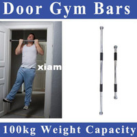 Wholesale Door Gym Chin - Free shipping 60-100cm Thicken Indoor Fitness Horizontal Pull-up Bar Door Portable Door Gym Way Gym Bar Chin Up Bar