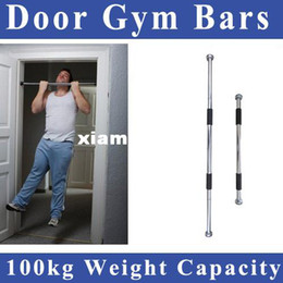 Wholesale Pull Bar Door - Free shipping 60-100cm Thicken Indoor Fitness Horizontal Pull-up Bar Door Portable Door Gym Way Gym Bar Chin Up Bar