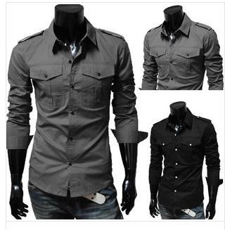 2017 Men Shirt Long Sleeve.2015 Men'S Clothing Wholesale Mens ...