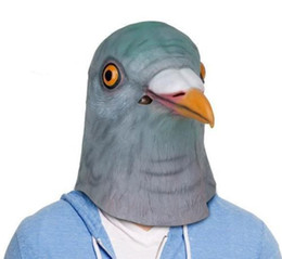$enCountryForm.capitalKeyWord Canada - Pigeon Head Mask Creepy Animal Halloween Costume Theater Prop Novelty Latex Rubber Free Shipping
