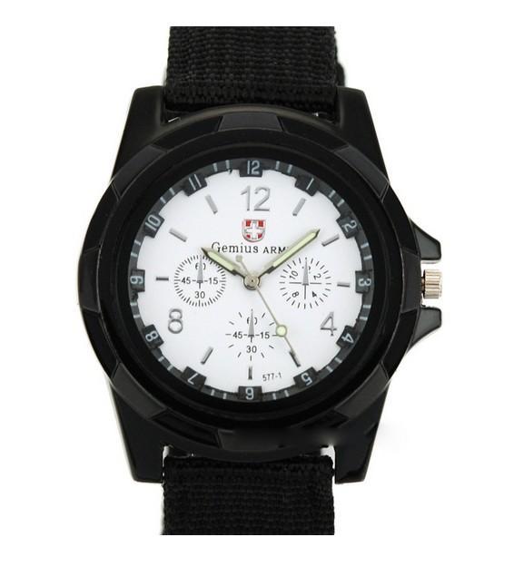 La miscela all'ingrosso gli uomini di estate freddi l'esercito militare di sport della cinghia del tessuto dell'esercito degli uomini di sport Gemius guarda l'orologio SA003