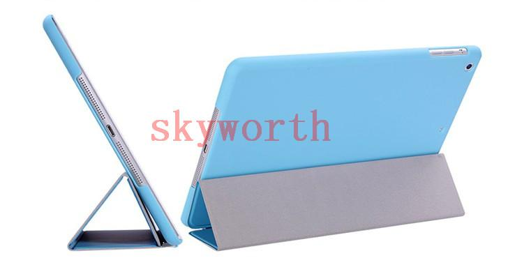 Front Smart Cover Crystal Hard Plastic Back Case Cover for ipad 2 3 4 5 6 ipad air 2 mini 1 2 3 retina Magnetic Sleep Wake UP perfect fit