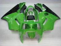 ingrosso kawasaki zx12r verde-Kit di stampo iniezione per KAWASAKI Ninja ZX12R 00 01 ZX 12R 2000 2001 ABS Cool Green nero Set carenature + 7 regali KX02
