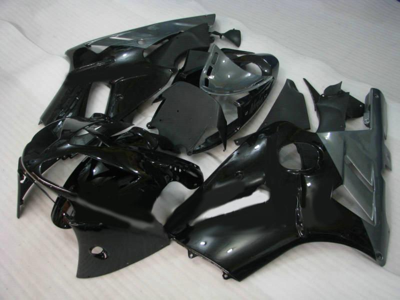 7Gifts !! FAIRING SET FÖR KAWASAKI NINJA ZX12R ZX 12R 2002 2004 2005 ZX-12R 02 03 04 05 Glans Svart Fairings Body Kit KX66