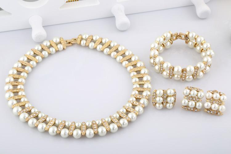 2018 2015 fashion jewelry indian pearl set designs faux pearl necklace costume jewelry set for Design and style fashion jewelry