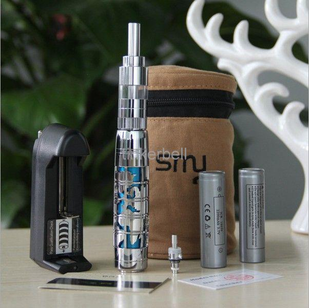E cigarette S2000 kit e cigarette kit E-cig S2000 kit with 2 battery core with zipper bag free shipping DHL