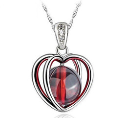 $enCountryForm.capitalKeyWord UK - Free shipping!Sterling Silver charm pendants,new design 925 pure silver jewelry female red garnet pendant uy-p027