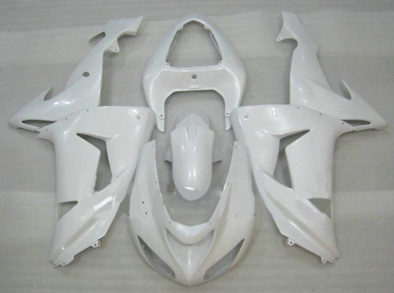 Nouveau kit carénage moto pour KAWASAKI Ninja ZX10R 06 07 ZX 10R 2006 2007 ZX-10R 06-07 complet carénage blanc set + 7 cadeaux KI27