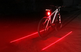 Wholesale Laser Cycle Lights - Free Shipping (5 LED 2 Lasers ) Bike Laser Light Bicycle Rear Tail Lamp Cycling Safety Led Flash