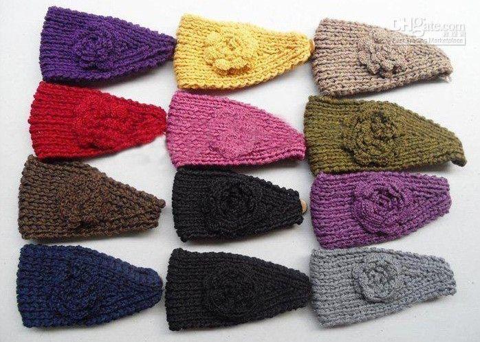 HOT SALE /Women knitted headband with flower,crochet hair headband- Handmade hair accessories Mixed