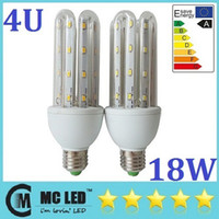 18W E27 führte 4U Lichter 64pcs 5730 SMD High Bright Led Corn Lichter Warm / Cool White 360 ​​Angle energiesparende LED-Strahler Lampen 110-240V