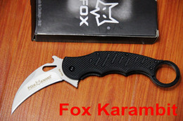 Wholesale Outdoors Gear China - Fox Karambit Exploration Diving Knife 5Cr13 Blade G10 handle camping outdoor gear knife knives Made in China