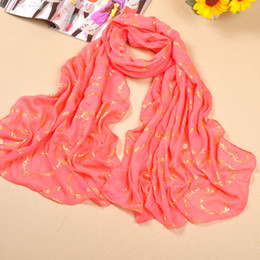 Wholesale New Style Hijab Scarf - mu230 free Shipping cotton printed gold chains voile scarf new style shawl big size long scarf fashion muslim hijab