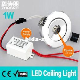 Wholesale Epistar Red Led Chip - 10pcs Lot, Free Shipping 1W LED Ceiling Light, AC85~265V Power Supply, LED Chip Epistar, LED Ceiling Lamp Warm White Cold White