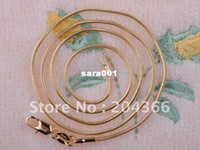 Wholesale Fashion Jewelry Deals - Wholesale Super deal New arrival fashion Jewelry 10pcs 18K gold filled snake chain NECKLACE 18 inch Super price !Free Shipping