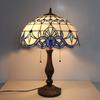 Tiffany Glass Table Lamps Mediterranean Style Creative Study Lamps Bedside Light Bedroom Lamp DIA 40 H 58 CM