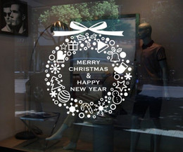 Wholesale Christmas Window Decals - 50pieces free via DHL Christmas Elves Merry Xmas stickers wall Decal Removable Vinyl Windows