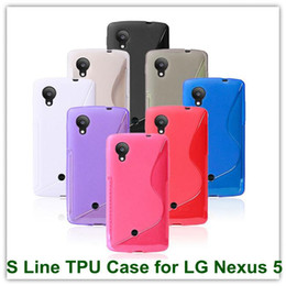 Wholesale Nexus S Line Tpu - 10PCS X Simple TPU S-Line Style Clear Cover Case for LG Nexus 5 E980 Google Nexus 5 Free Shipping
