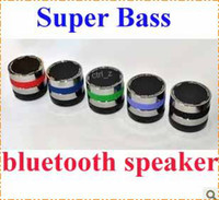 Wholesale Rotary Speaker - Super Bass Mini Portable Bluetooth Handsfree Wireless Speaker 360 Degree Rotary Volume Control For MOBILE iphone 5S 5C Note 3 S4 ipad air
