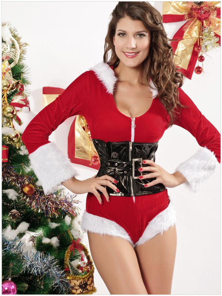 938ab8c613 Hot New Sexy Christmas Red Miss Santa Claus Costume Jumpsuit With Min Corset  Outfits For Women Christmas Party Cosplay Tutu Dress 7129 Dorothy Halloween  .