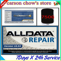 Wholesale Dvd Car For Toyota - Newest!! 2015 Alldata 10.53 576GB 90 DVD +2014 Mitchell Ondemand 125GB+2015 Mitchell Ultramate with a 750G hdd car repair software