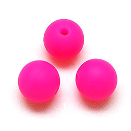 10mm Round Silicone Loose Beads Perle BPA Free Silicone Beads Food Grade For Baby Teething Jewelry Making on Sale