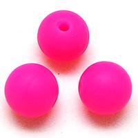 14mm gummi großhandel-14mm gummi runder silikon perlen perle silikon perlen bpa frei runde lebensmittelqualität baby kinderkrankheiten