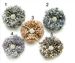 Wholesale Leopard Ribbon Wholesale - Boutique DIY hair accessories parts bead diamond leopard print flower headband hair band accessory diy hair jewelry headwear Clothing hat