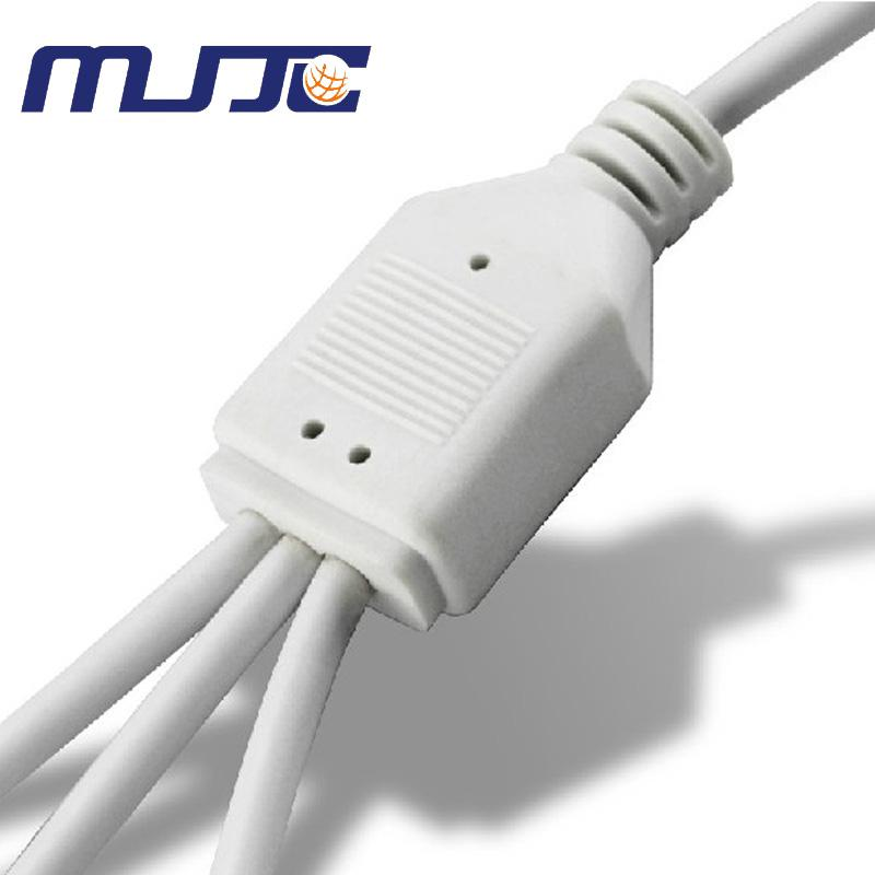 White Black Male/Female 4PIN RGB LED Strip Connectors Controller Spliter Divider Distributors Cable easy connection