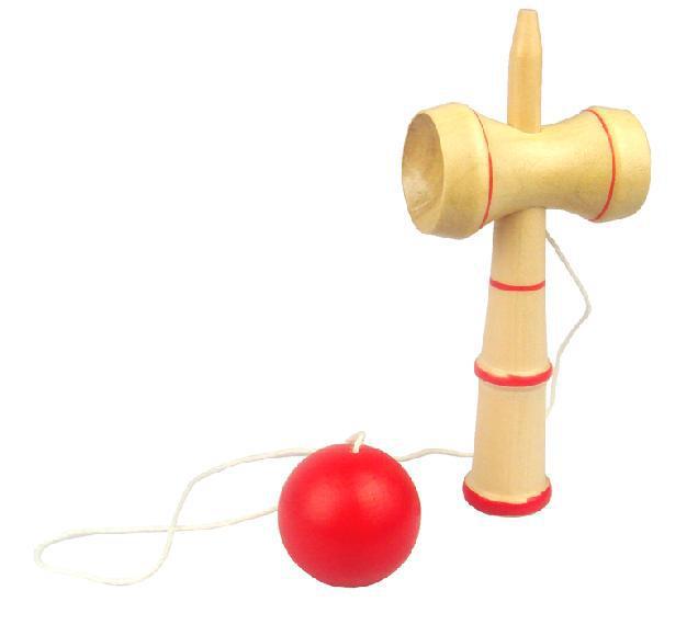 재미있는 바하마 전통 우드 게임 스킬 Kendama Ball