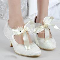 1db61a8c30a Wholesale ivory bow wedding shoes online - 2016 Satin Bridal Shoes Lace  Wedding Dress Shoes fashion