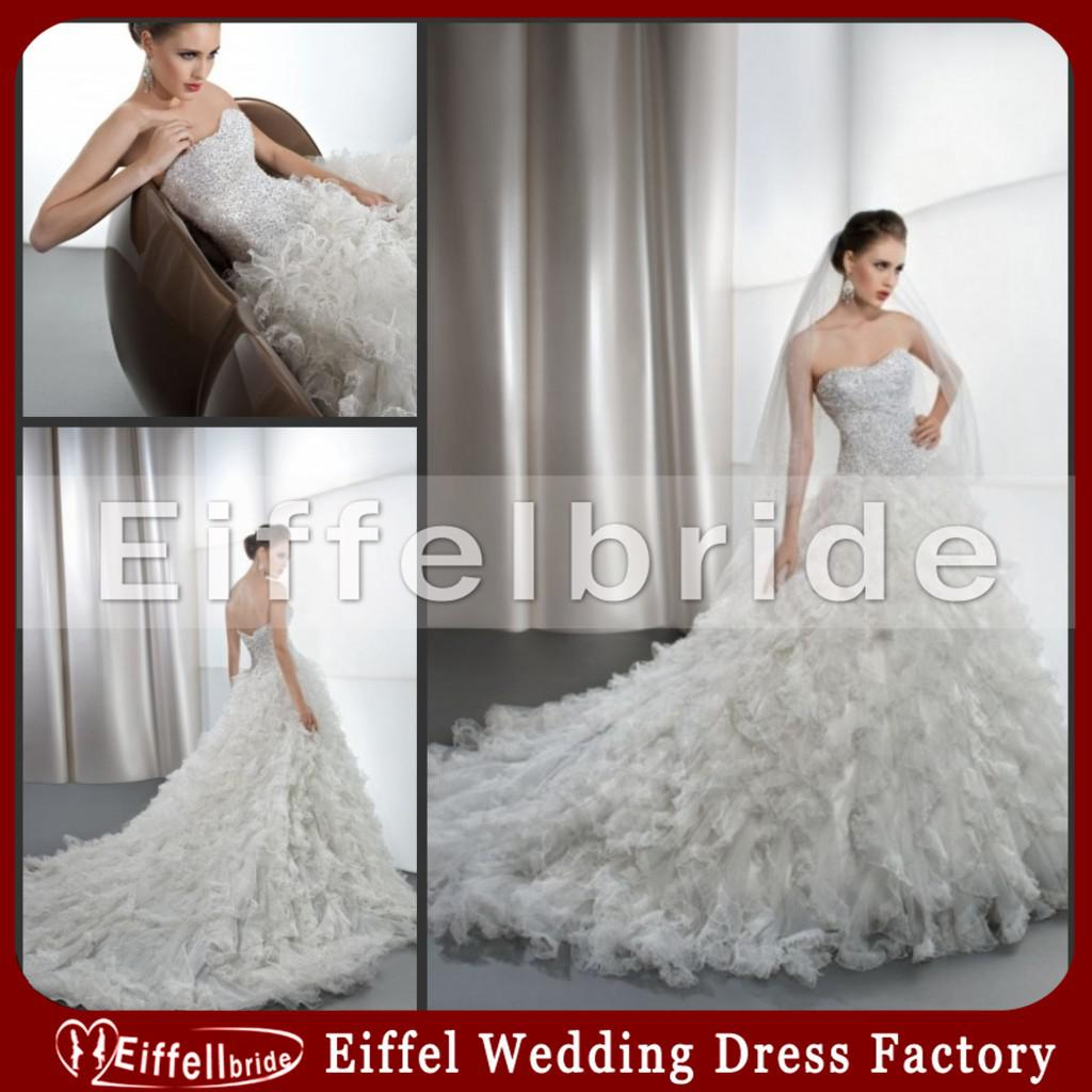 Discount 2014 New Design Muslim Wedding Dress With A Simple Veil ...