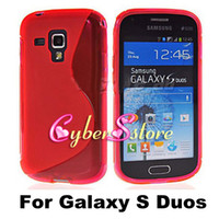 Wholesale Galaxy Duos S7562 Tpu Case - S Line Wave Clear Crystal Soft TPU Gel Case Cover For Samsung Galaxy Trend S Duos S7562
