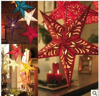 Wholesale Christmas Decoration Paper Stars - Hot New Most Wonderful Christmas Colorful stars Hot Selling Colorful paper Christmas decorations From opec 836