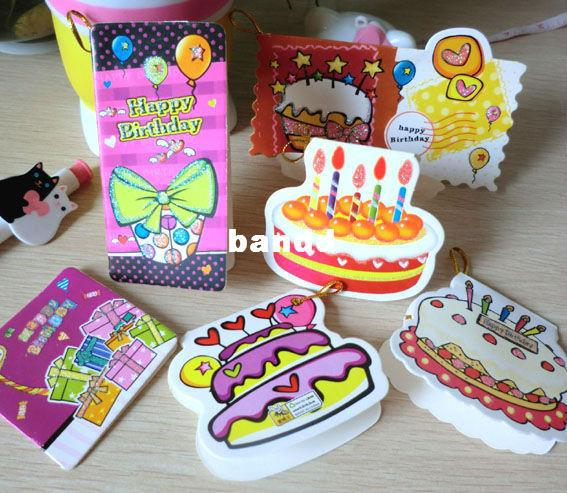 Creative Mini Cartoon Birthday Greeting Card For Kids Christmas Cute