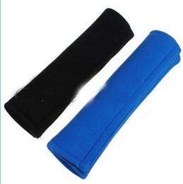 Опт Черный и синий автомобиль ремень безопасности ремень безопасности ремень плечевой ремень сумка рюкзак Pad крышка подушки 10 пар / лот