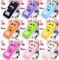 Wholesale 3d Galaxy S3 Case - 3D M&M MM Rainbow bean cases Chocolate silicone cases cover for iphone 4 4S 5 5S 5C 6 6plus Samsung Galaxy s3 s4 s5 note 3 ipod touch 4 5