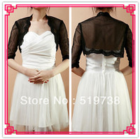 Wholesale Half Sleeve Lace Bolero - Half-Sleeve Lace Net Evening Wrap (More Colors) Wedding Jacket Lace Boleros